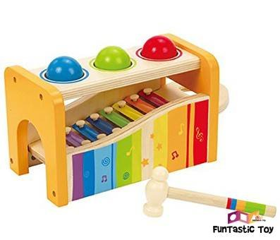 Small Product Image Of Hape Pound & Tap Bench with Slide Out Xylophone