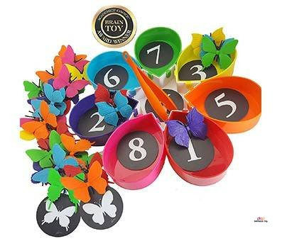 Small Product Image Of Skoolzy Butterfly Garden Color Sorting and Counting Toy