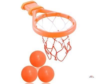 Product image of 3 Bees & Me Bath Toy Basketball Hoop & Balls Set