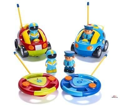 Product image of Cartoon RC Police Car and Race Car Radio