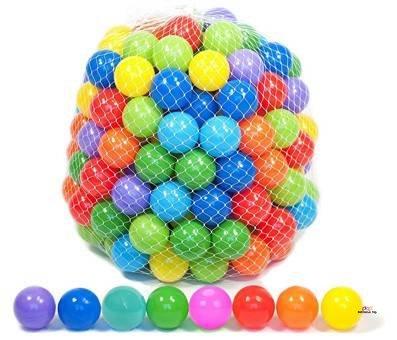 Product image of Playz 500 Soft Plastic Mini Balls Set with 8 Vibrant Colors