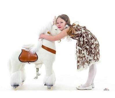 Product image of Smart Gear Pony Cycle White Unicorn Ride on