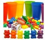 Small Image of product Skoolzy Rainbow Counting Bears with Matching Sorting Cups