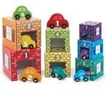 Small Product image of Melissa & Doug Nesting and Sorting Garages and Cars