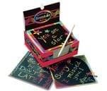Small Product image of Melissa & Doug Scratch Art Box of Rainbow Mini Notes