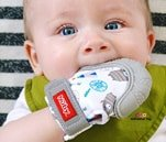 Small Product image of Nuby Soothing Teething Mitten with Hygienic Travel Bag