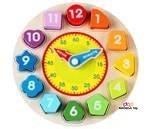 Small Product image of Wondertoys Wooden Shape Sorting Clock
