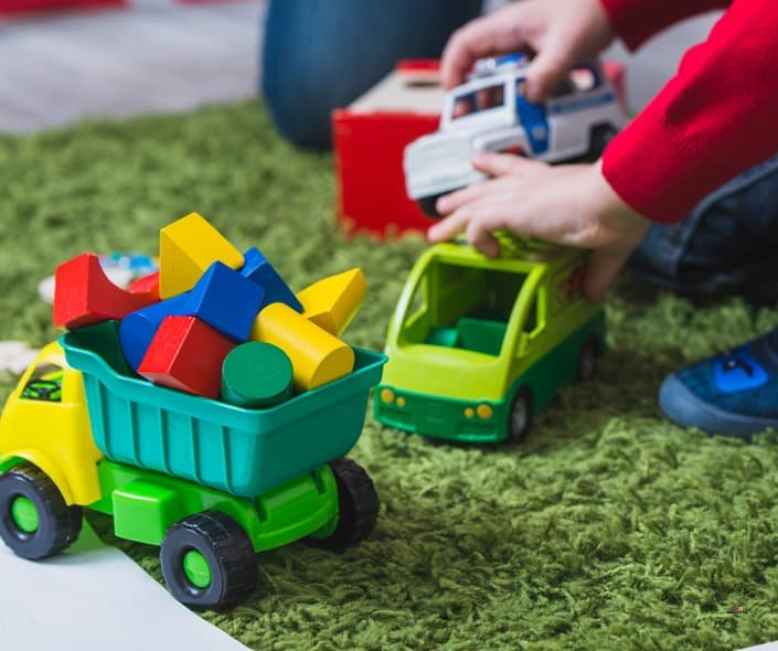 Image of Plastic Toys an Wooden Toys