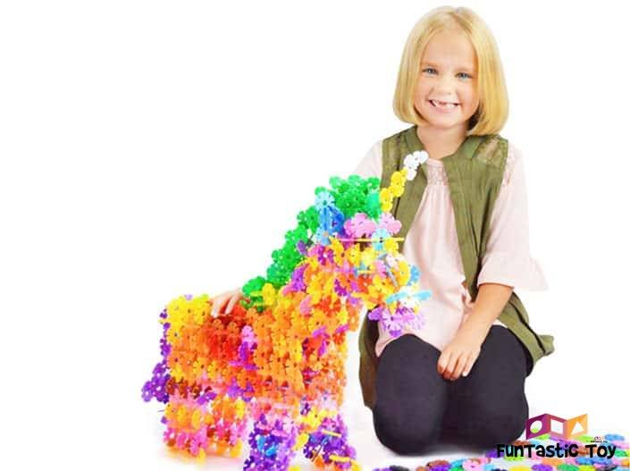 Image of girl playing with Brain Flakes