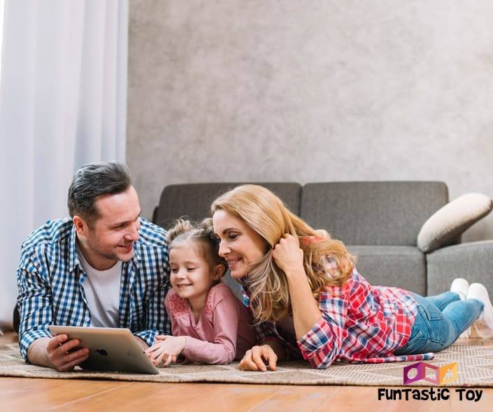 Featured image of family looking at tablet