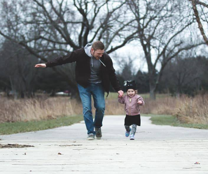 Featured image of father and little daughter walking