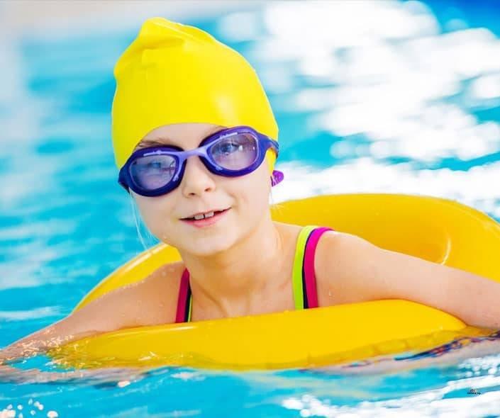 Image of girl swimming in pool