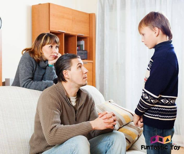 Image of parents disciplining son