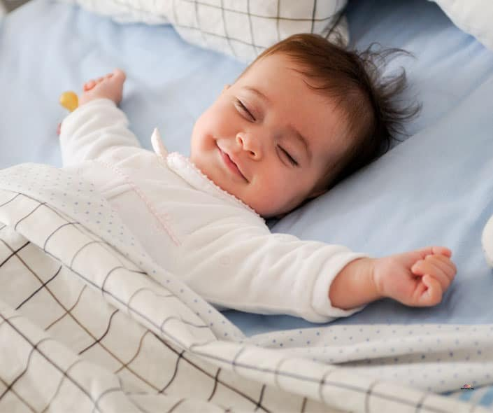 Featured image of happy cute baby sleeping