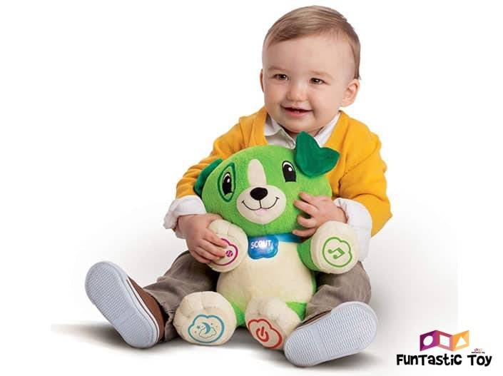 Image of child holding Leapfrog Scout Toy