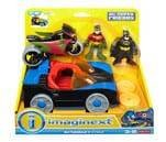 Small product image of Fisher-Price Imaginext DC Super Friends Batmobile & Cycle