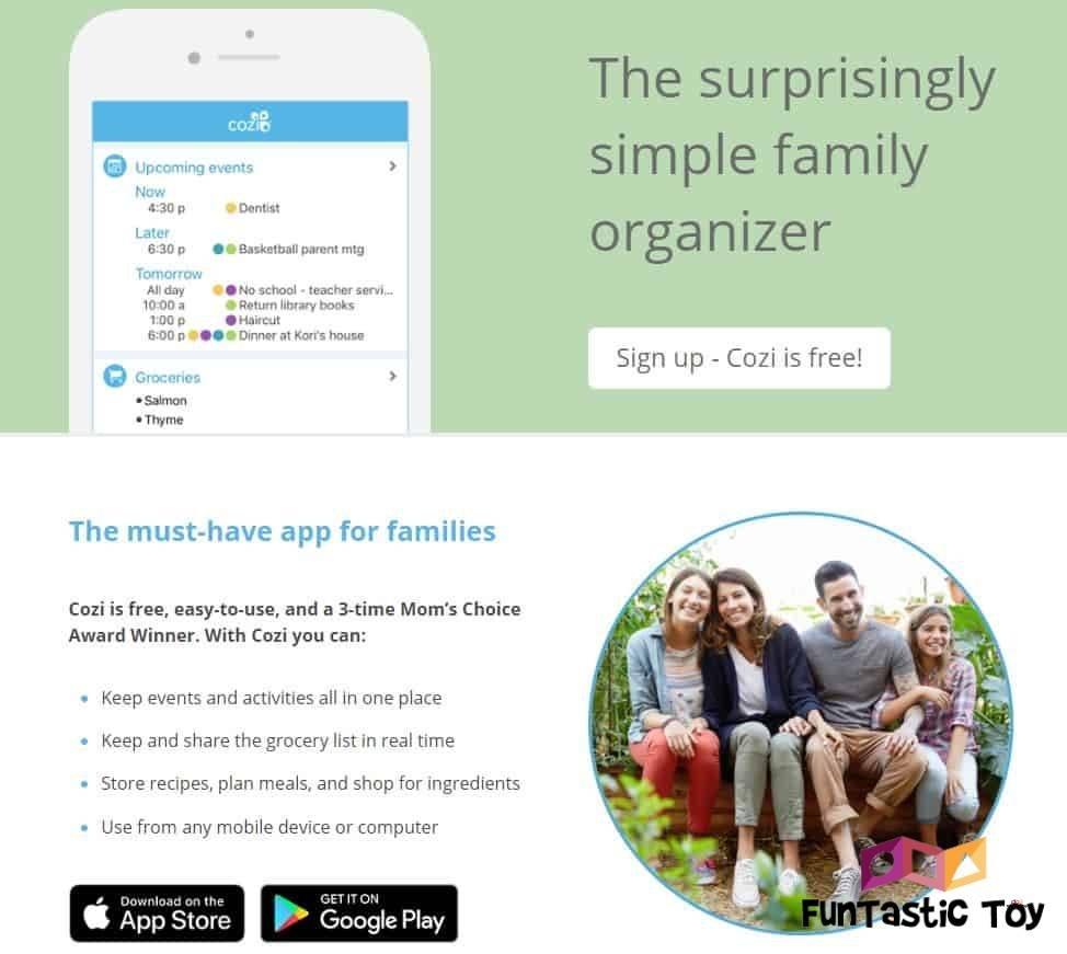 Cozi family calendar app