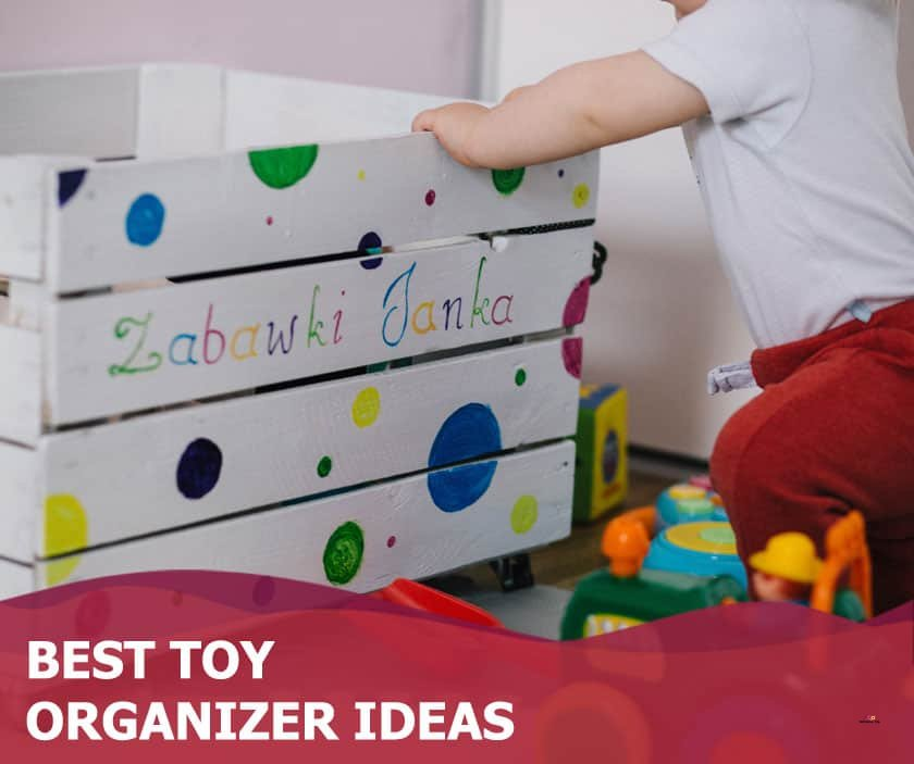 Featured image of toddler with wooden toy box