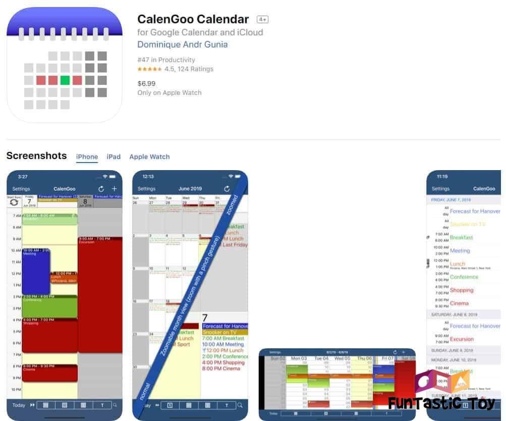 calengoo family calendar app