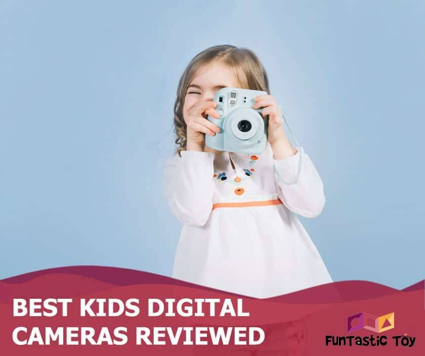 Featured image of little girl holding blue camera