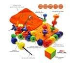 Small product image of Skoolzy Peg Board Set30 Lacing Pegs