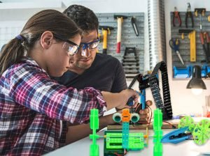 Featured image of dad and daughter and stem toy