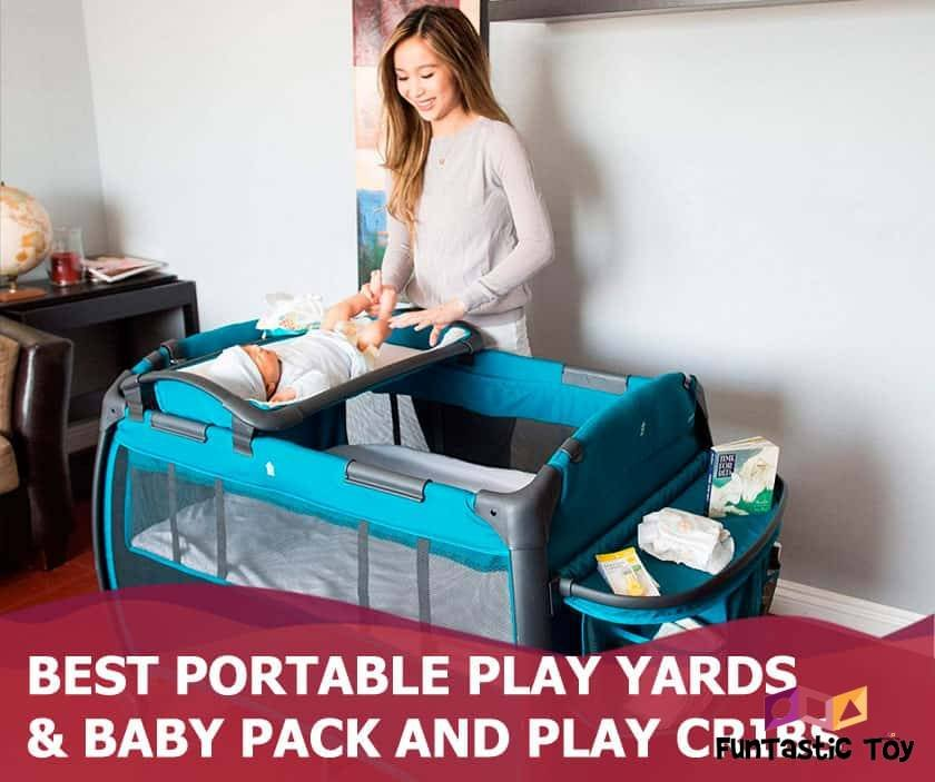 Featured image of smiling mother changing baby on play crib