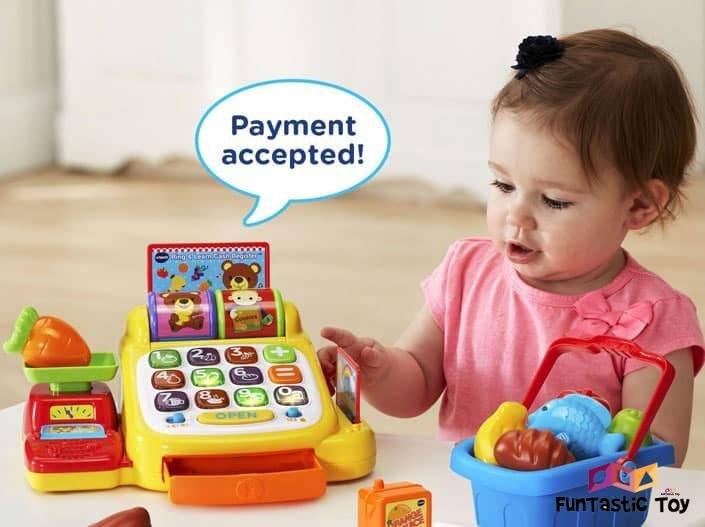 Image of girl with Cash Register