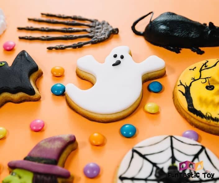 Image of spooky halloween cookies