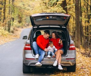Featured image of family with baby in car in autumn