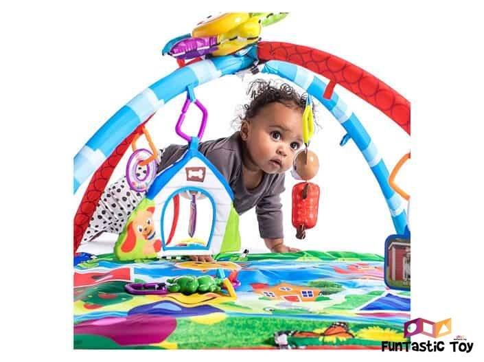 Image of baby in Baby Einstein Caterpillar and Friends Activity Gym