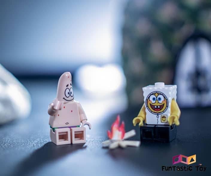 Image of lego spongebob and patrick