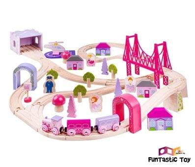 Product image of Bigjigs Rail Wooden Fairy Town Train Set