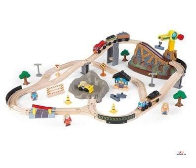 Product image of KidKraft Bucket Top Construction Train Set