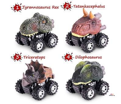 Product image of Pull Back Dinosaur Cars
