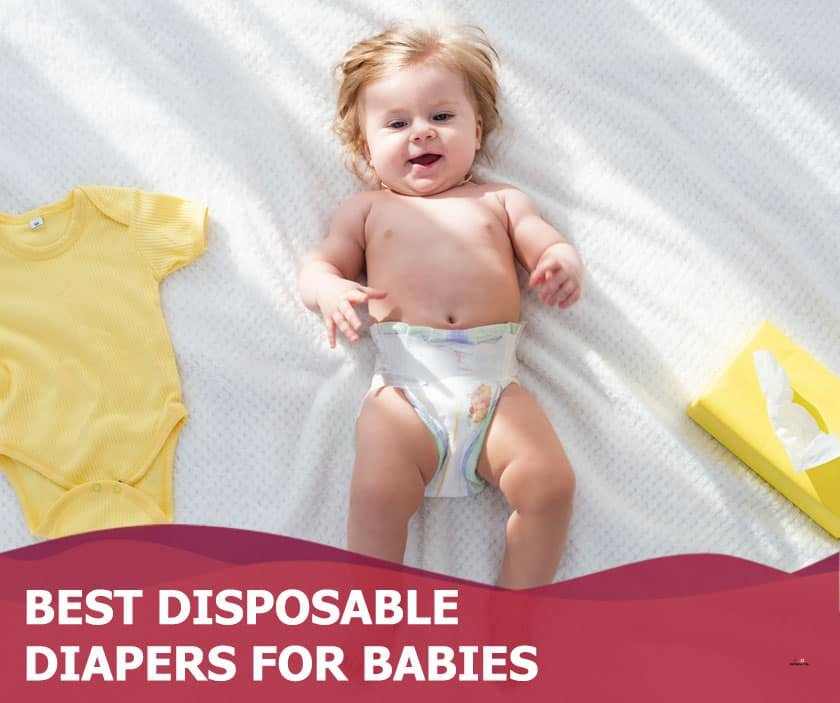 Featured image of happy baby in diaper lying on bed