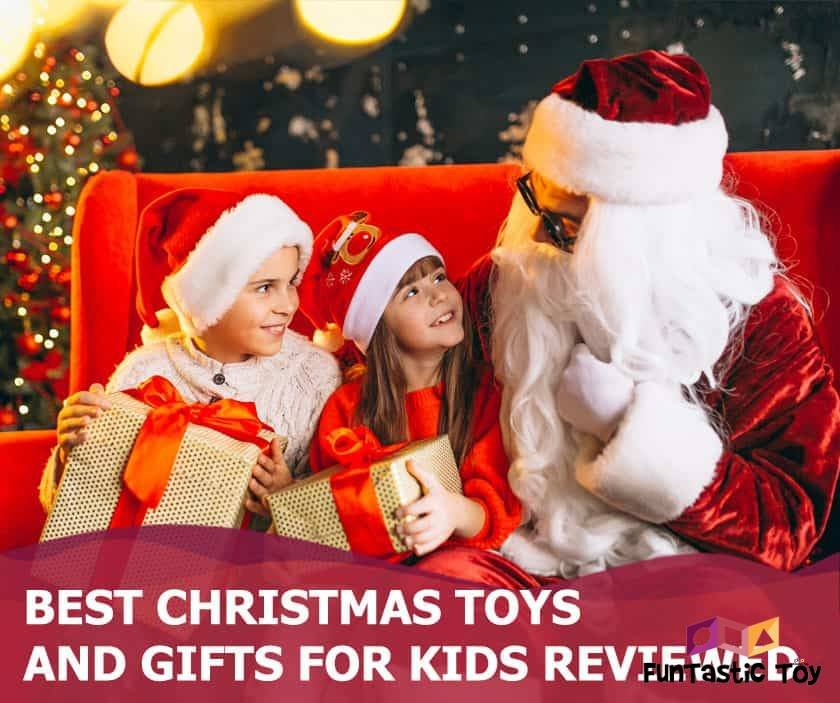 Featured image of santa claus with boy and girl holding presents