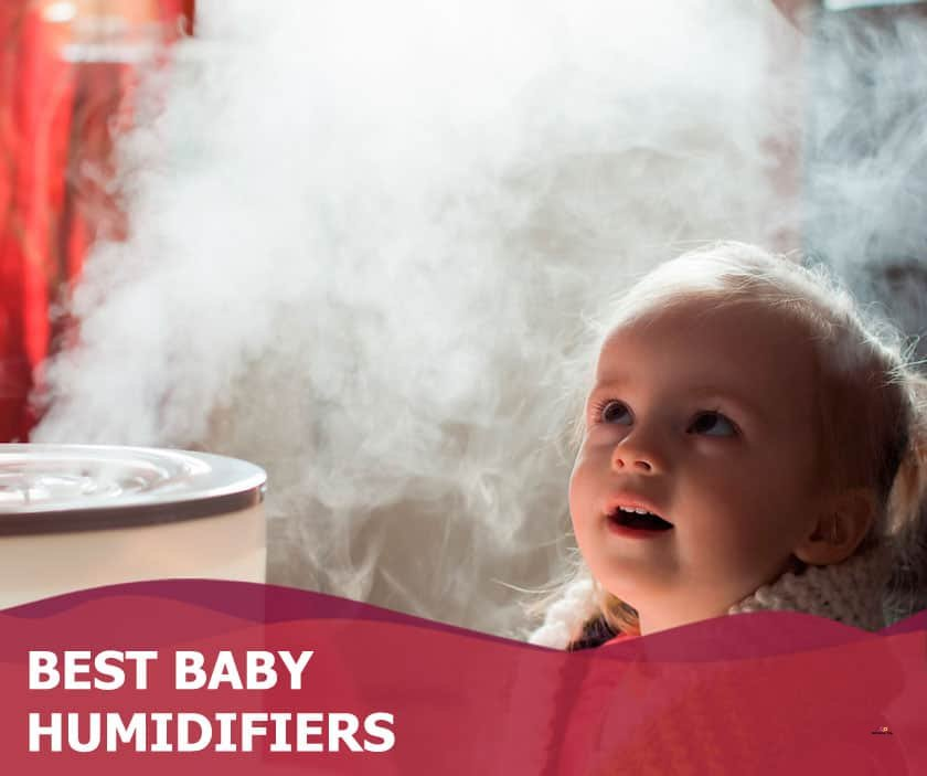 Featured image of toddler looking at steam from humidifier