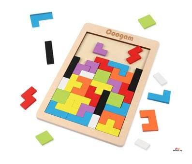 Product image of Coogam Wooden Tetris Puzzle