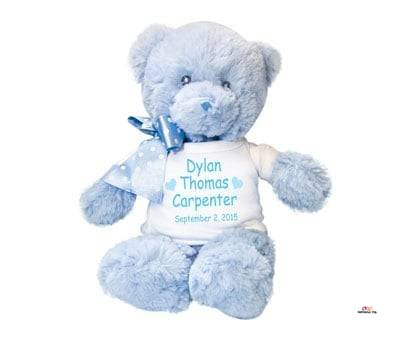 Product image of Personalized Teddy Bear for Baby Boys