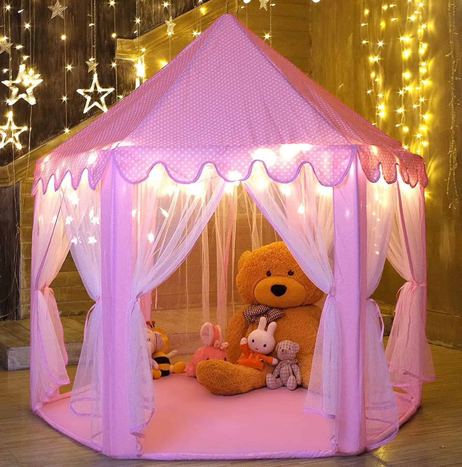 Product image of Indoor and Outdoor Hexagon Pink Castle
