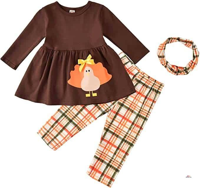 Small Product image of Toddler Girl Thanksgiving Outfit