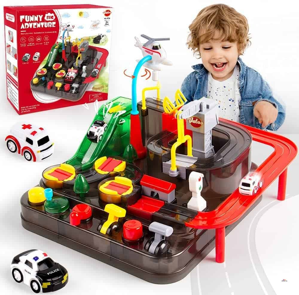 Small Product image of VATOS Toddler Boy Car Toys for Learning Colors