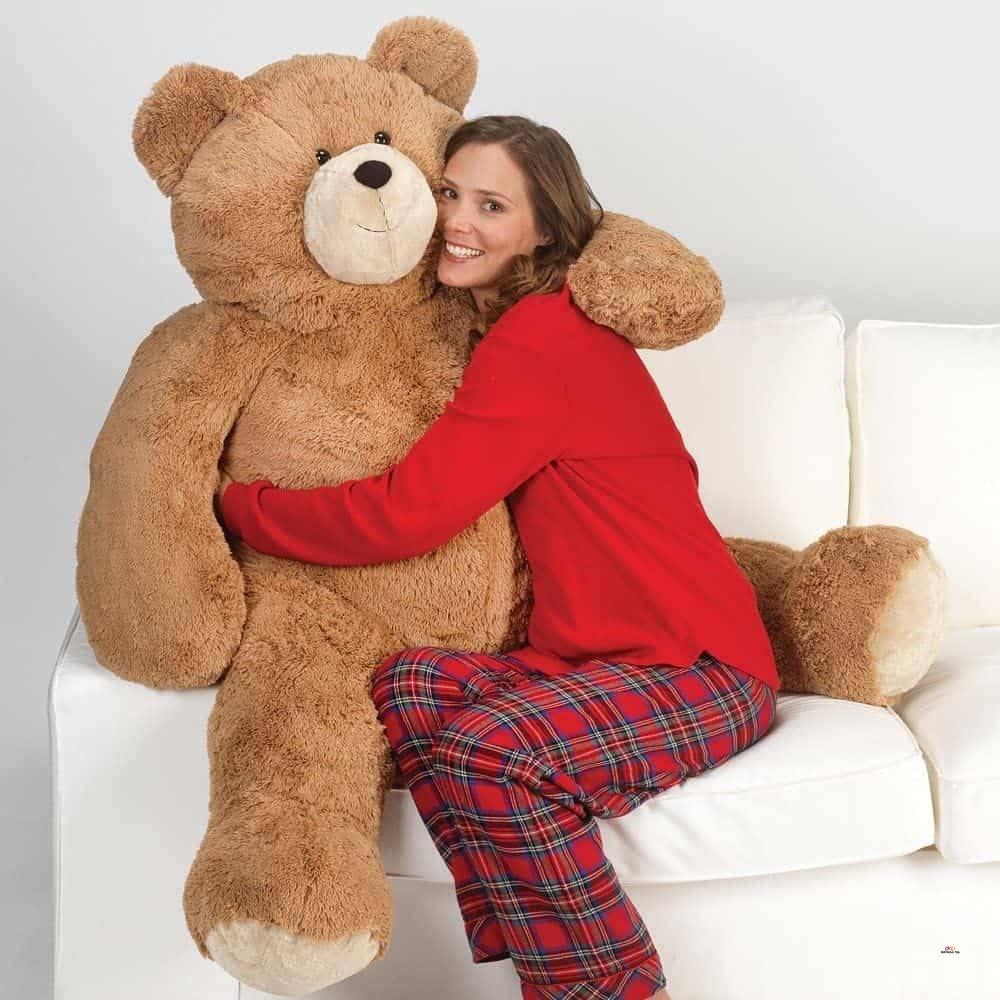 Product image of Melissa & Doug Jumbo Brown Teddy Bear